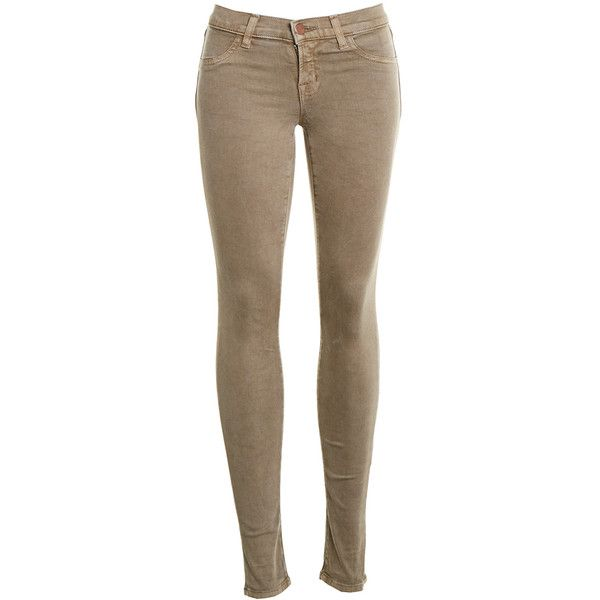 Pre-owned Women's J Brand Tan Jeans ($35) ❤ liked on Polyvore featuring jeans, pants, tan, tan jeans, brown jeans, j brand and j brand jeans