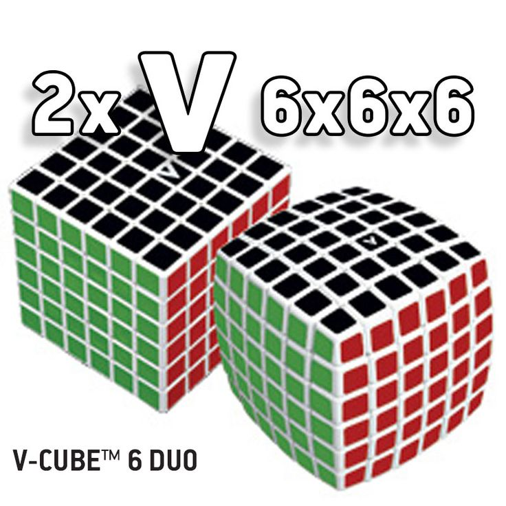 V-CUBE 6 Duo White Body. Rotational Cube Twisty Puzzle  V-CUBE 6™ is the 6x6x6 version of the V-CUBE™ family! This is the essential pillow-shaped version in WHITE! V-CUBE 6™ is a multicolored, six-layered cube with exceptional quality and incredibly smooth rotation. The player is required to discover a strategy to achieve uniform colored sides on her/his V-CUBE 6 ™.