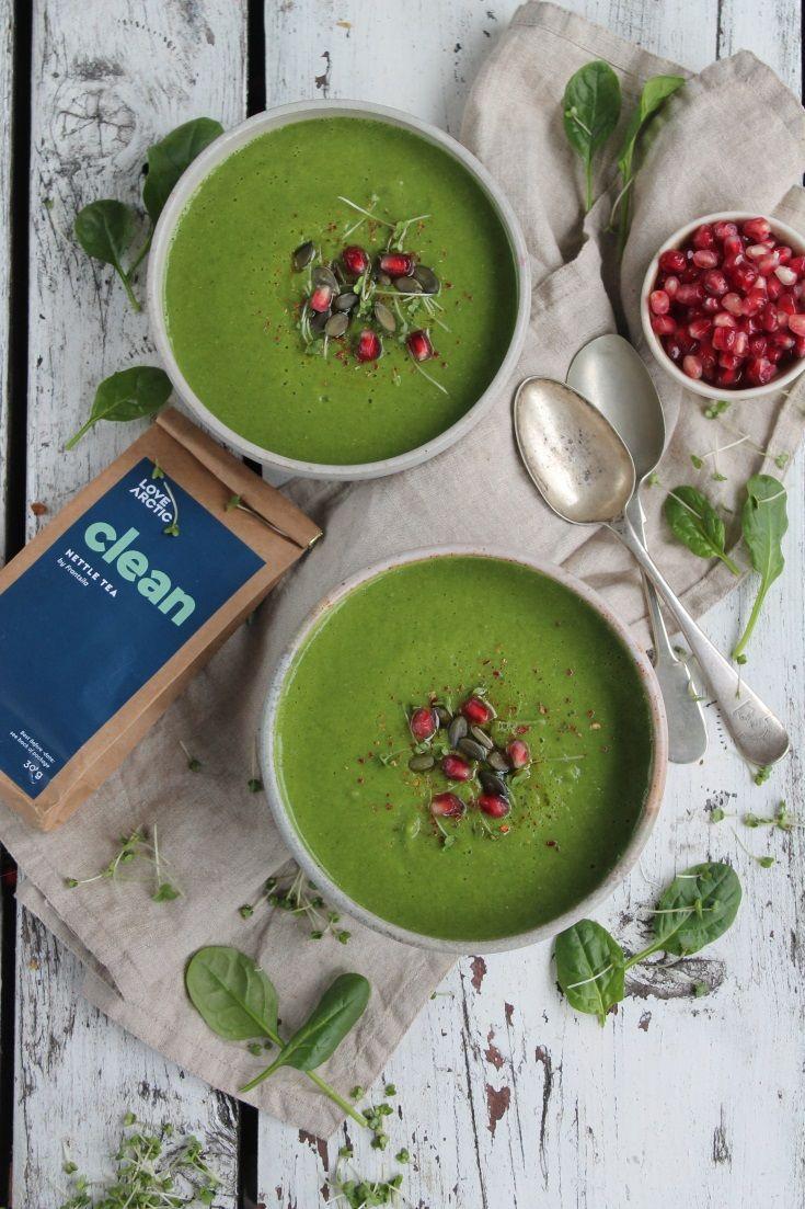 NETTLE CLEANSING SOUP (vegan, gluten free, dairy free)