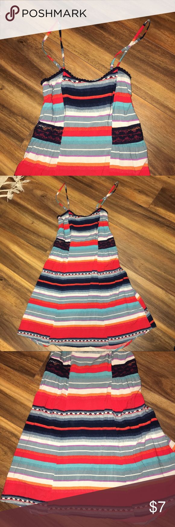 Boho Style Striped Dress Striped dress in spotless condition. Thin material and flows beautifully. Perfect for hot weather. Has thin adjustable straps too.  ❌I will NEVER accept $5 offers. Stop with the low ball offers. My clothes are already priced very cheap. Mossimo Supply Co. Dresses Midi