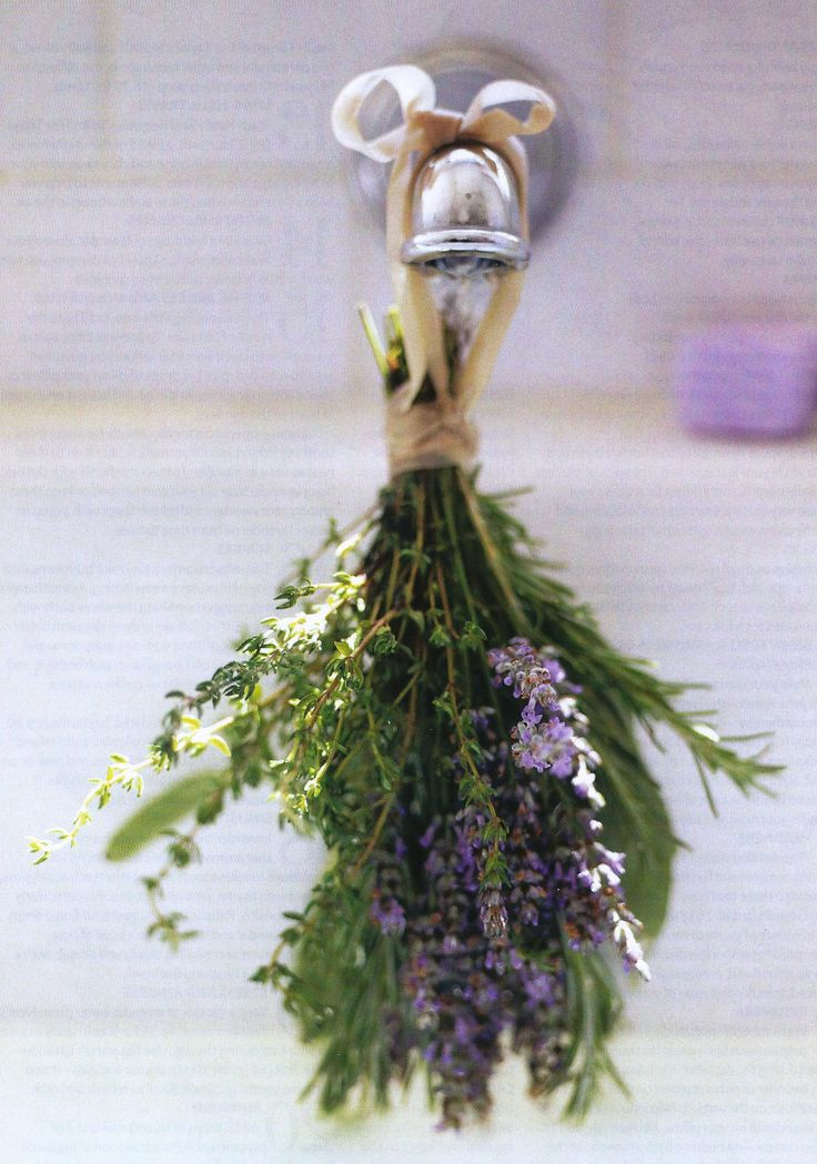 ~*Lavender - a lovely way to scent your bath water.
