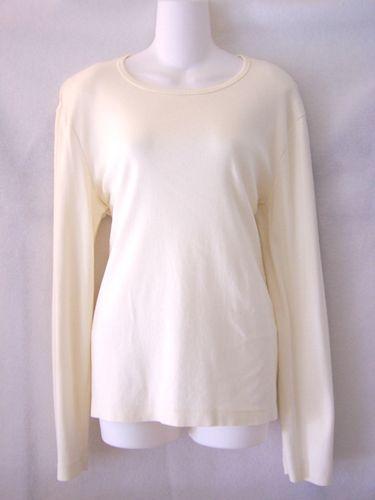 Ladies White Long Sleeve T Shirt