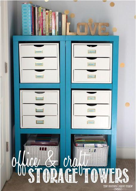 Friday's Featured Favorites: Craft Storage, Chore Charts, DIY Wall Organizer, love this craft storage space!