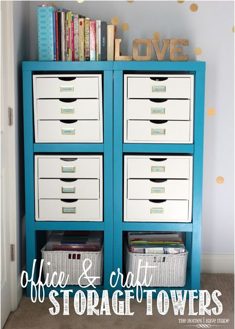 Friday's Featured Favorites: Craft Storage, Chore Charts, DIY Wall Organizer, love this craft storage space!