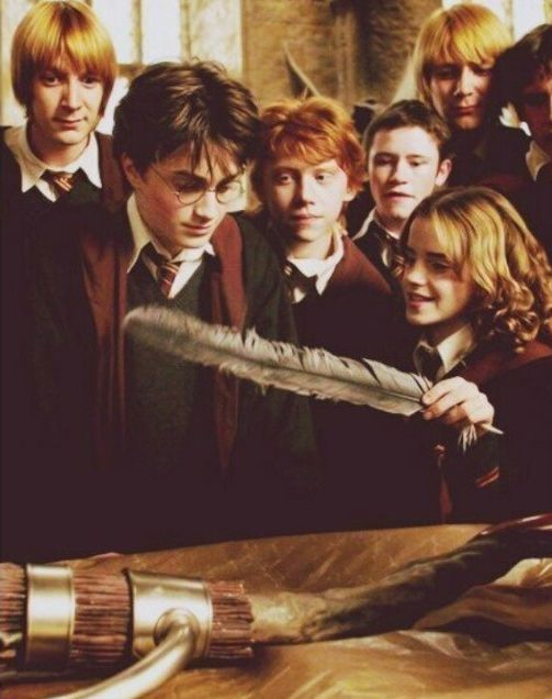 Fred Harry Ron Seamus George Neville & Hermione (Harry Potter and the Prisoner of Azkaban)