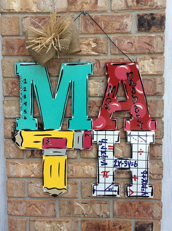 Math door hanger teacher door hanger classroom decor