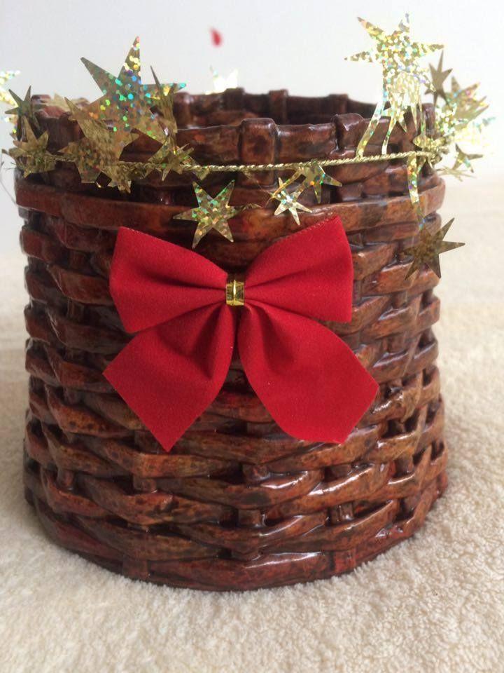 Handmade Paper Basket Gift Home Decor Idea