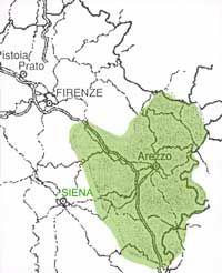 """carta del territorio di produzione della chianina. Deve il suo nome alla Val di Chiana: è una razza autoctona dell'Italia Centrale (Toscana e Umbria). È una razza di antiche origini, conosciuta da più di 2000 anni. Fu già citata da Plinio il Vecchio e altri autori latini (""""Bos magnus et albus"""") ed era utilizzata come razza da lavoro da Romani ed Etruschi; #Wonderfooditaly #FrancescoBruno www.blogtematico.it"""