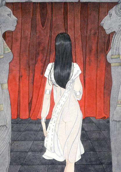 """Alexandra - watercolour - 2004 (cover for """"Cronache del Crepuscolo - Vol. 2"""" by Ivan Sgandurra)"""