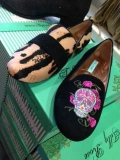 Also NEW THIS WEEK!! New Season Tilly Rose Black Suede loafer with exclusive Tilly Rose designed embroidery. Plus a gorgeous leopard print loafer!