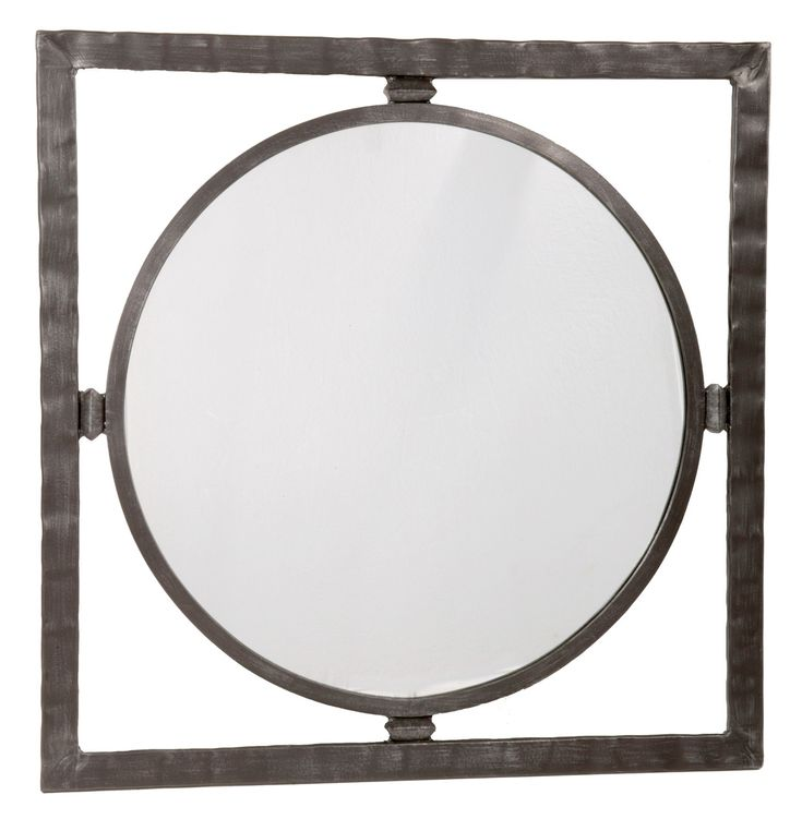 Forest Hill Iron Round Wall Mirror 2 Available Sizes