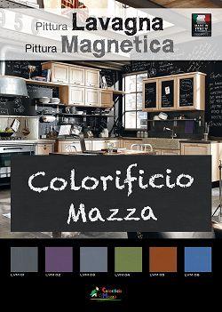 Cartella colori Pittura Lavagna Magnetica by Colorificio mazza www.colorificiomazza.it