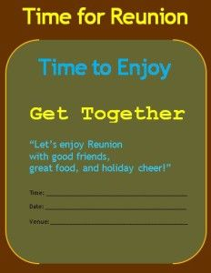 reunion invitation template word excel pdf templates www