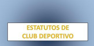 ESTATUTOS DE CLUB DEPORTIVO