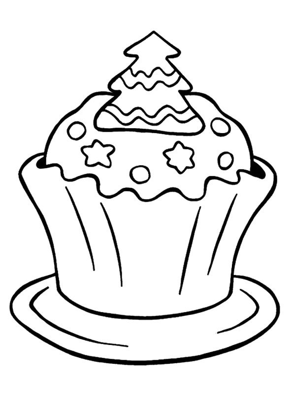 leaf coloring pages images cupcake - photo#13