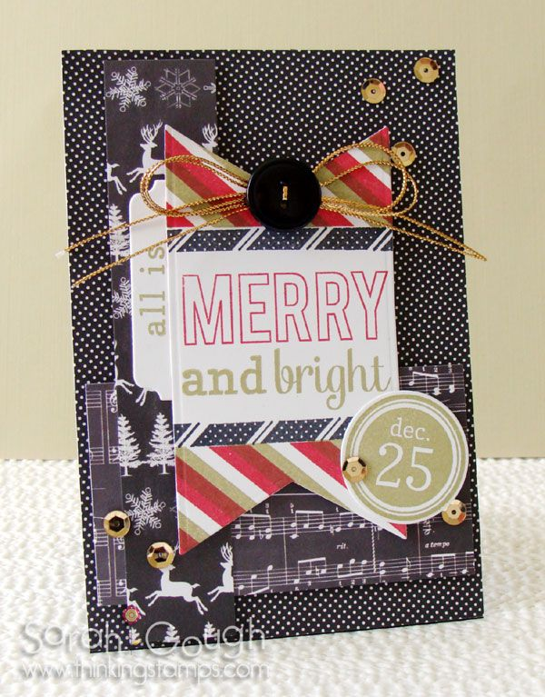 Countdown to Confetti: Bring on the Merry, Tinsel 'n Trim! Sarah Gough www.thinkingstamps.com