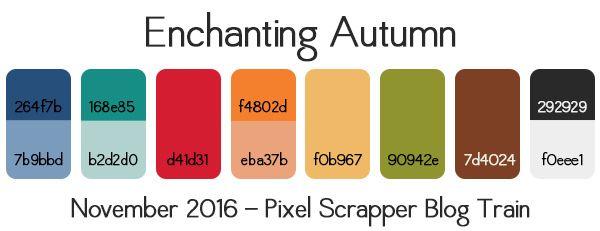 Nov 2016 Blog Train - Working | Pixel Scrapper digital scrapbooking forums