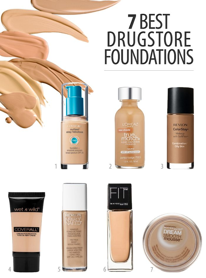 7 Best Drugstore Foundations Makeup Products Pinterest