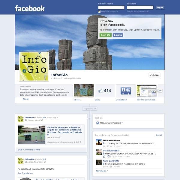 The website 'https://www.facebook.com/InfoeGio' courtesy of Pinstamatic (http://pinstamatic.com)