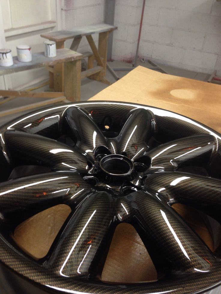 Gold Carbon Wheel By Hydrodip Designs Chevy Nova Project