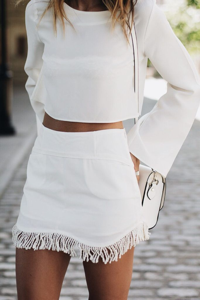 Fringe two piece set.