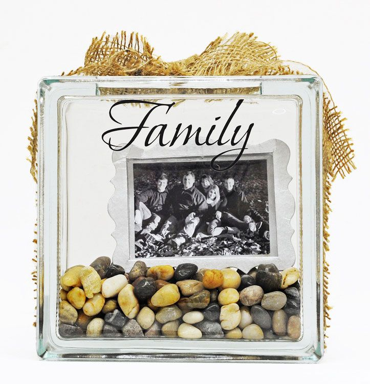 Ben Franklin Crafts and Frame Shop: Glass Block Project: Family