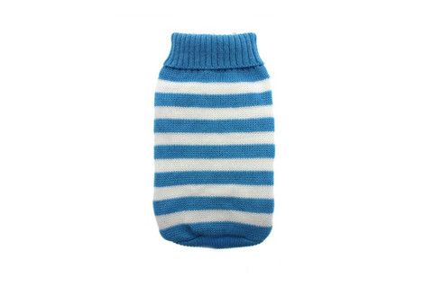 Blue & White Candy Stripped Sweater