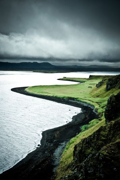 The North Shore, Iceland. There is something so beautiful about black and