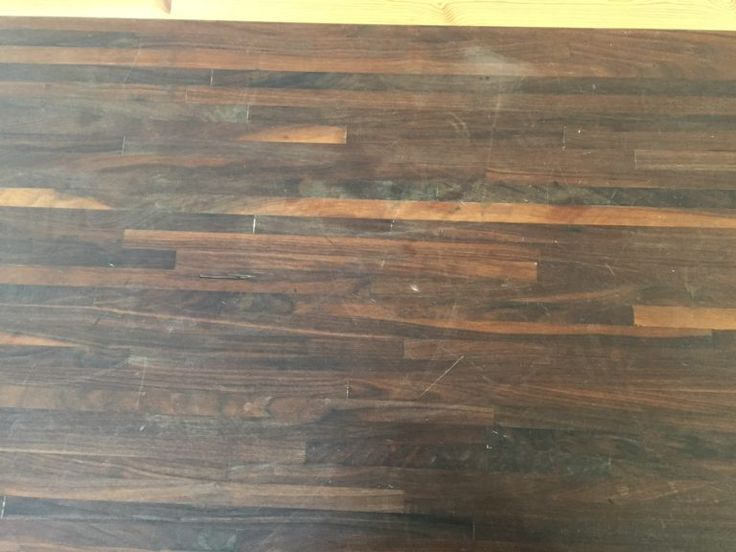 Finishing walnut butcher block countertops with pure tung oil - a food safe sealer