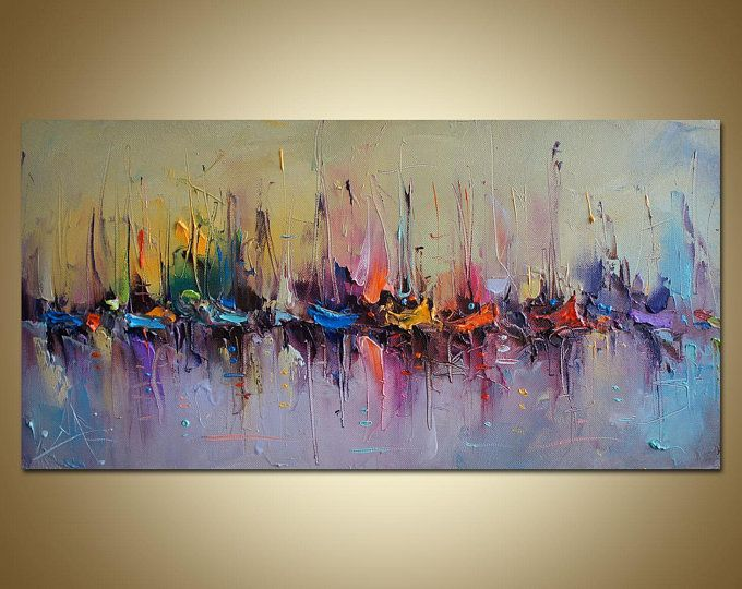 Oil Painting Abstract Large Seascape Painting Large Art Abstract Canvas Art Seascape Paintings Abstract Art Painting