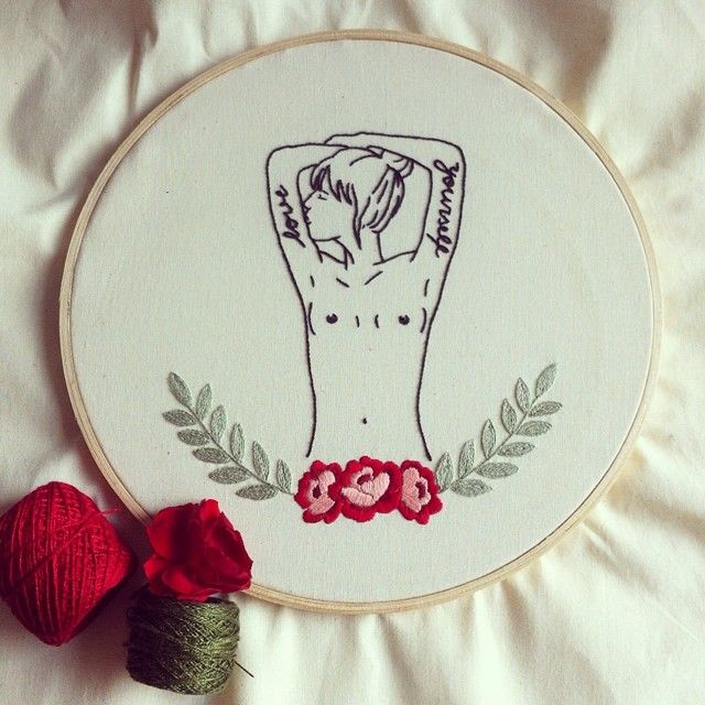 Never forget to love yourself! ❤️ #embroidery #bordado #handmade #feitoamao #loveyourself