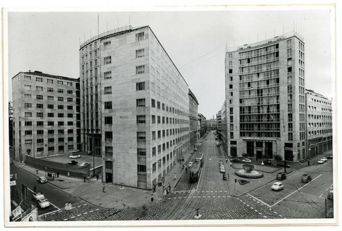 1935-38, Palazzo Montecatini e Secondo Palazzo Montecatini del 1951.  Gio Ponti