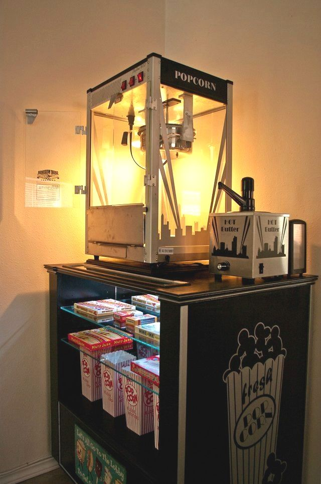 Post With 2113683 Views Diy Concession Popcorn Machine Stand Home Cinema Room Movie Room Decor At Home Movie Theater
