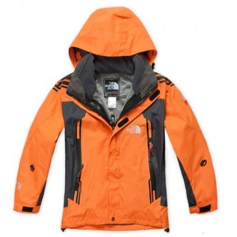 Kids Orange Winter North Face Jacket