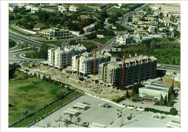 Hotel PYR construction, nothing else was builded but the marina.