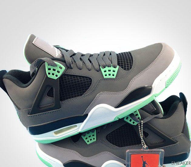 "d821a42b420e0f ... Air Jordan IV ""Glow Green "" (August 2013) – release date ..."