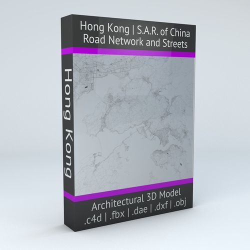 Hong Kong Road Network and Streets | 3D Model