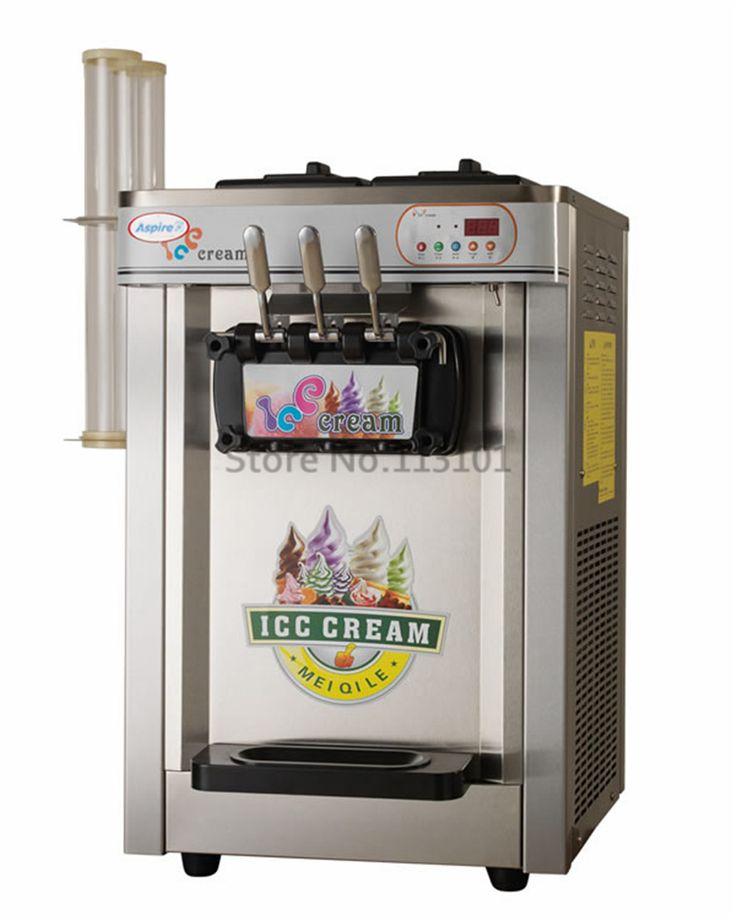 Smart Ice Cream Machine Auto Control Sytem Stainless Steel with Ice Cream Cone Brackets Cone Holder