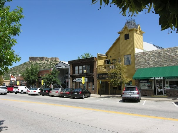 Historic Downtown Castle Rock Colorado Located South Of Denver In Douglas  County.