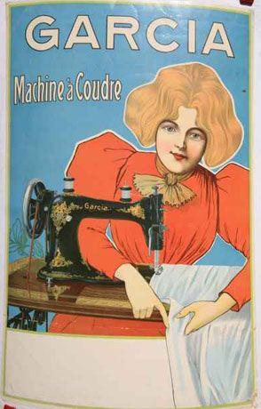 Vintage ♥Sewing Machine Poster