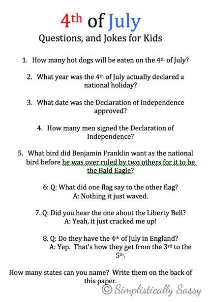 4th of july music trivia