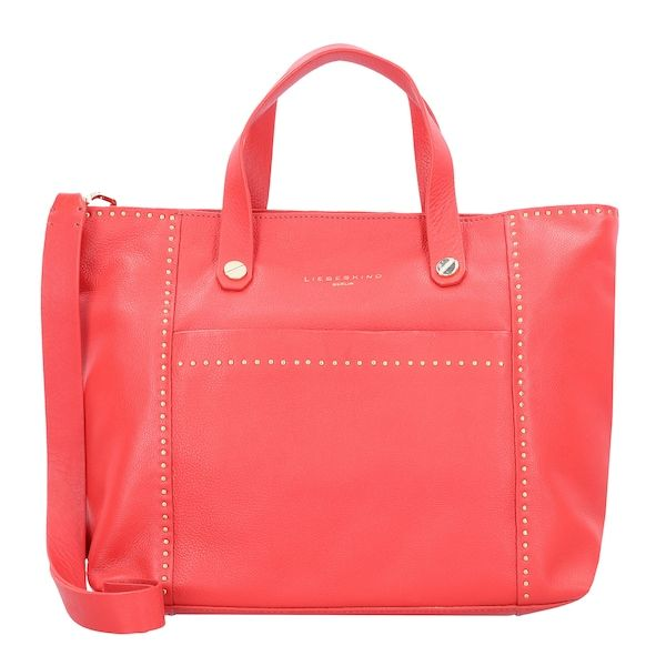 Liebeskind Berlin Handtasche Stud Love Hellrot Handtasche Damentasche Bags Handbags Frauenhandtasche Taschen Handtaschen