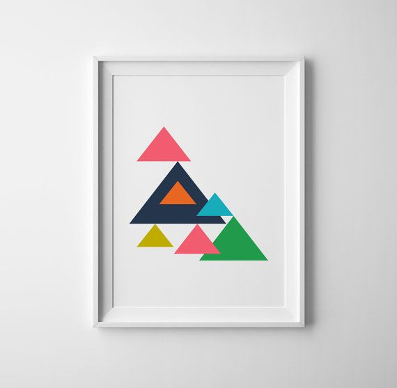 Graphic art nursery print colorful baby print by BrownFoxPrints