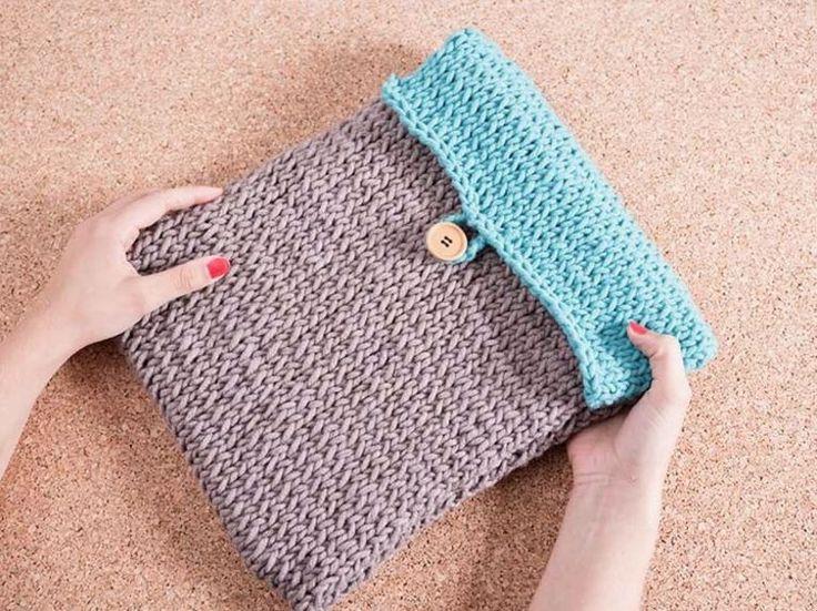 DIY tutorial: Knit A Laptop Case via DaWanda.com