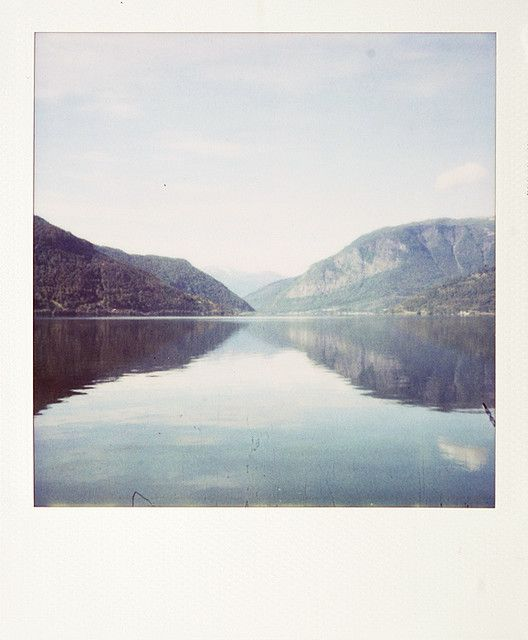Polaroid of the sea and mountains - Photography - Film
