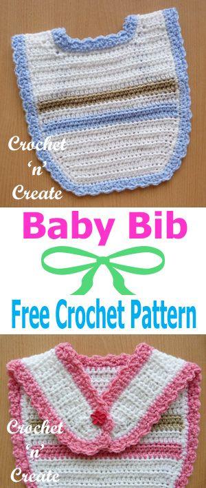 121 best crochet baby bibs images on pinterest free crochet baby bib a free crochet pattern dt1010fo