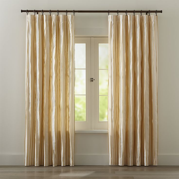 Kendal Yellow Striped Curtains  Grey Striped Curtains