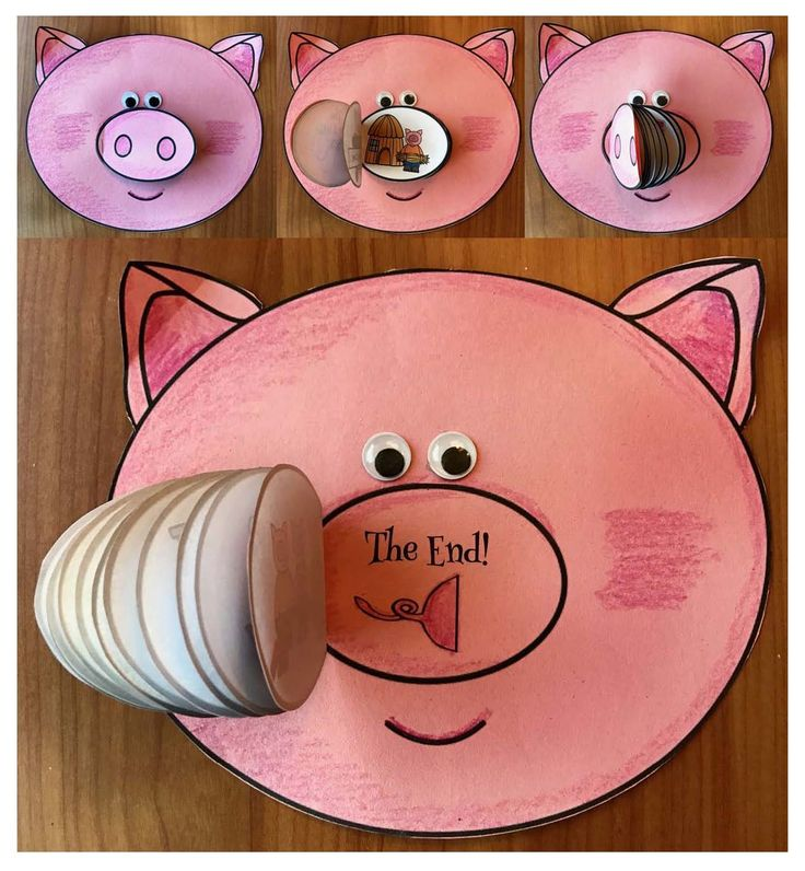 "Fairy Tales: ""Flip-the-Nose"" to sequence & retell the story of ""The 3 Little Pigs"". So cute!!! Comes in black & white + color. What a fun way to practice these standards."