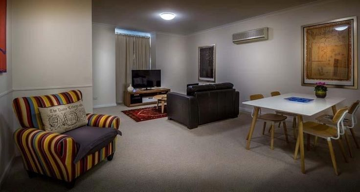 This Short stay apartment East Perth is Stylishly and comfortably furnished and equipped including 120cm Full HD flat panel TV, Espresso coffee machine