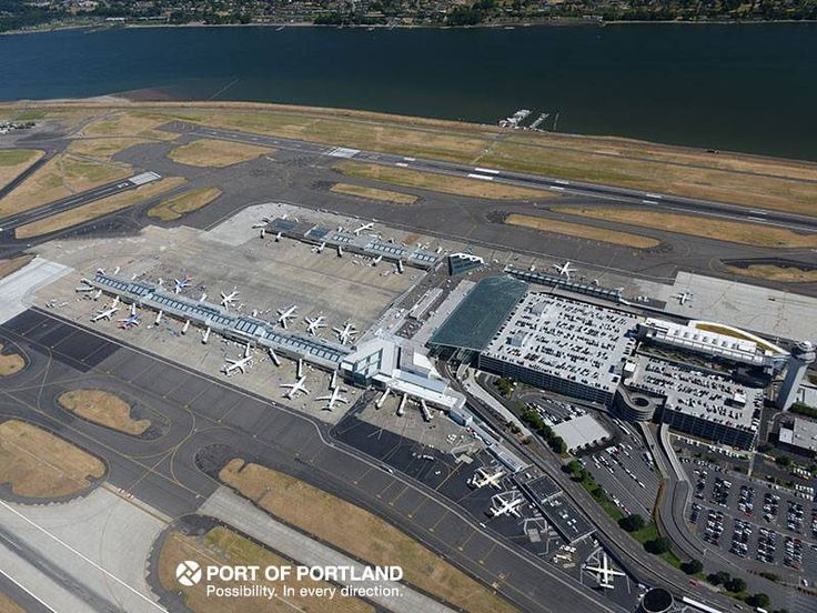 Splendid Aerial view of Portland International Airport Airports Pinterest